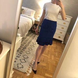 Nanette Lepore Deep Blue Pencil Skirt Size 6 NWT